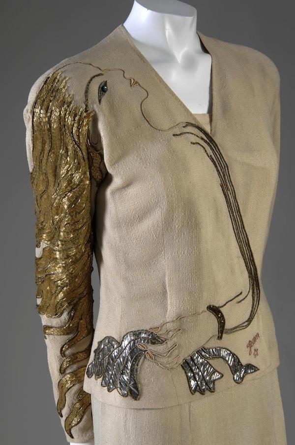 Elsa Schiaparelli. An Itialian designer influences by Surrealist art. Her work was highly unusual but very innovative.