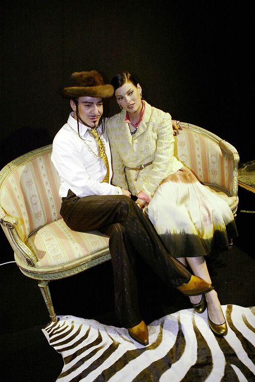 John Galliano and Linda Evangelista - 1995