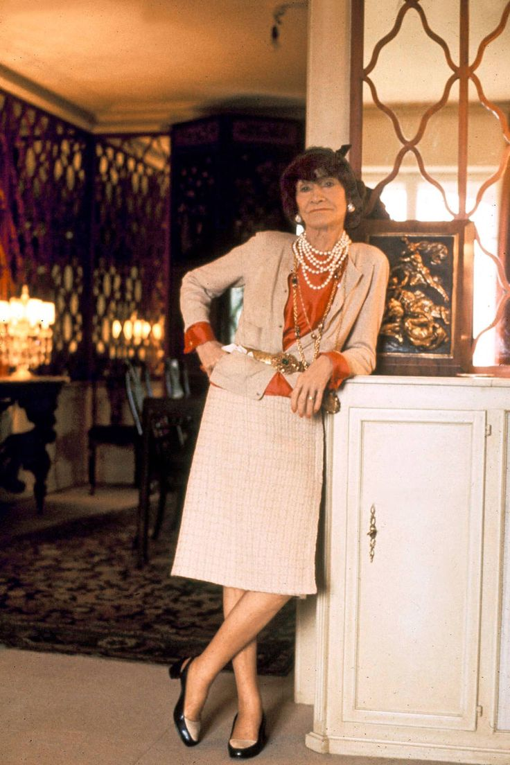 Coco Chanel the year before her death, 1970