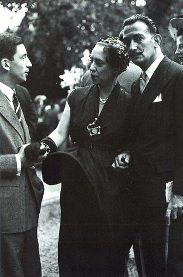 Elsa Schiaparelli with Salvador Dalí