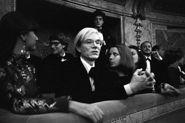 'Versailles '73' - Andy Warhol at Versailles with Yves Saint Laurent, Mary Russel, and Pierre Berge