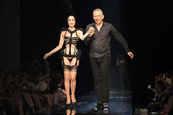 Dita Von Teese and designer Jean-Paul Gaultier