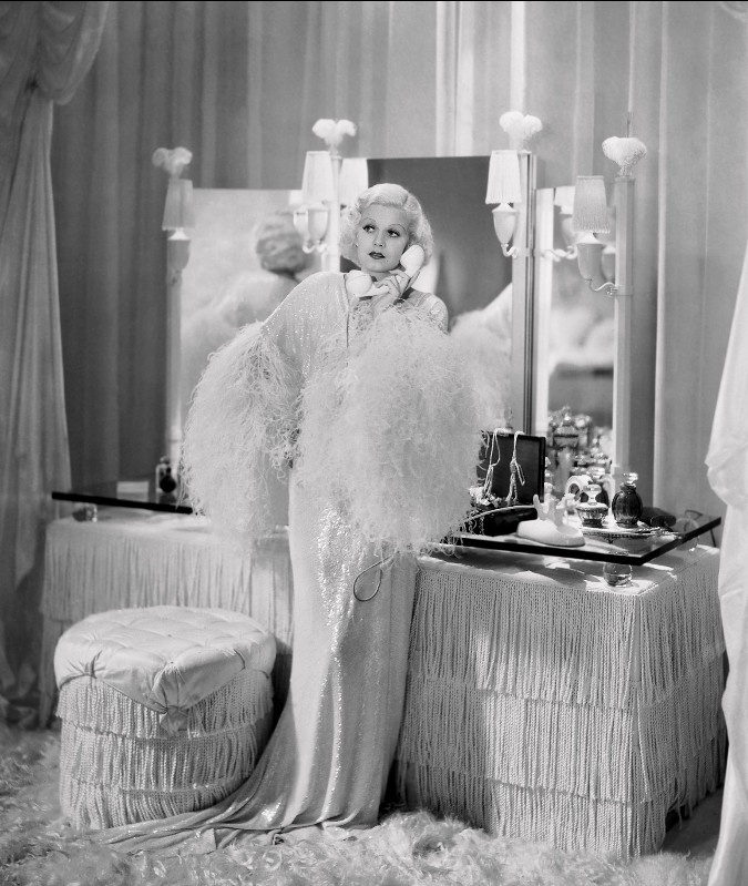 "Jeanne Harlow in ""Dinner at Eight"" 1933. Costumes by Adrian."