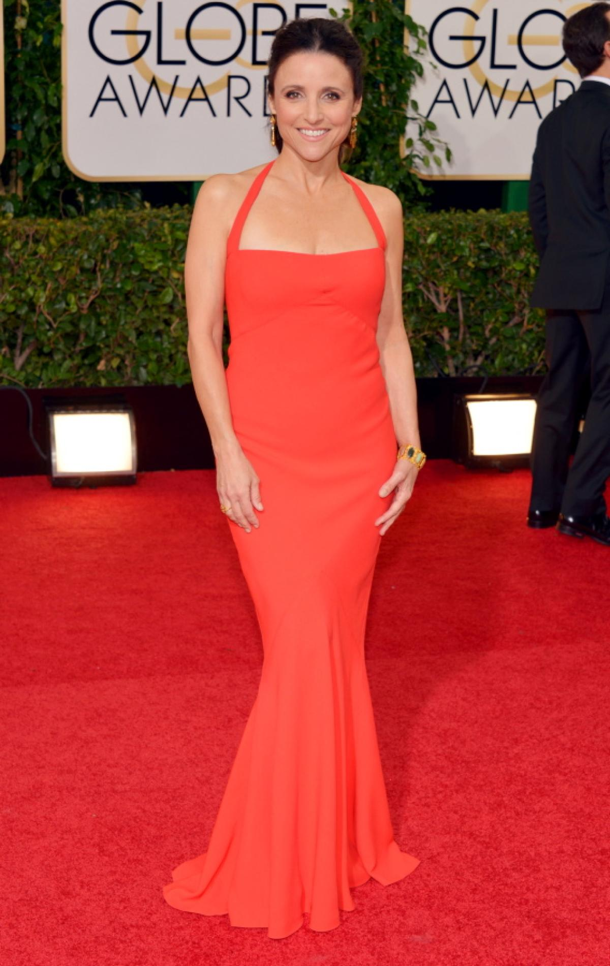 Julia Dreyfus in Narciso Rodriguez