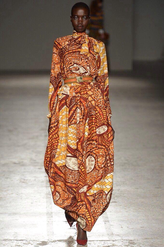 Stella Jean F/W 2014 R-T-W Milan: Nykhor Paul