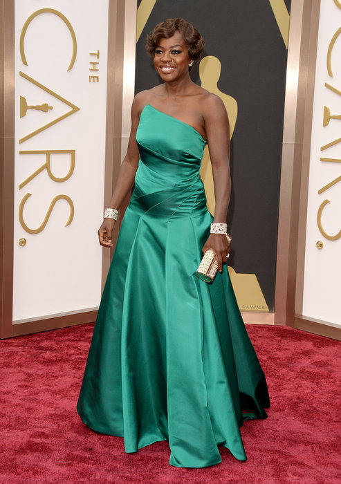 Viola Davis arrives at the 86th Academy Awards.