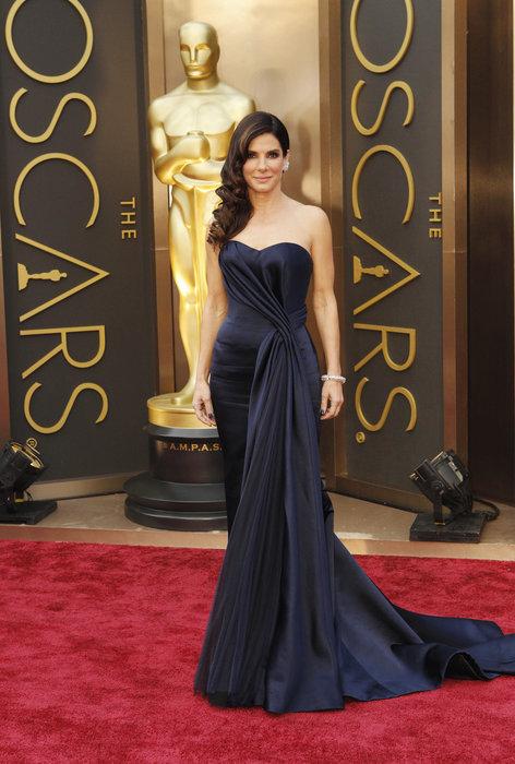 Sandra Bullock arrives at the 86th Academy Awards.