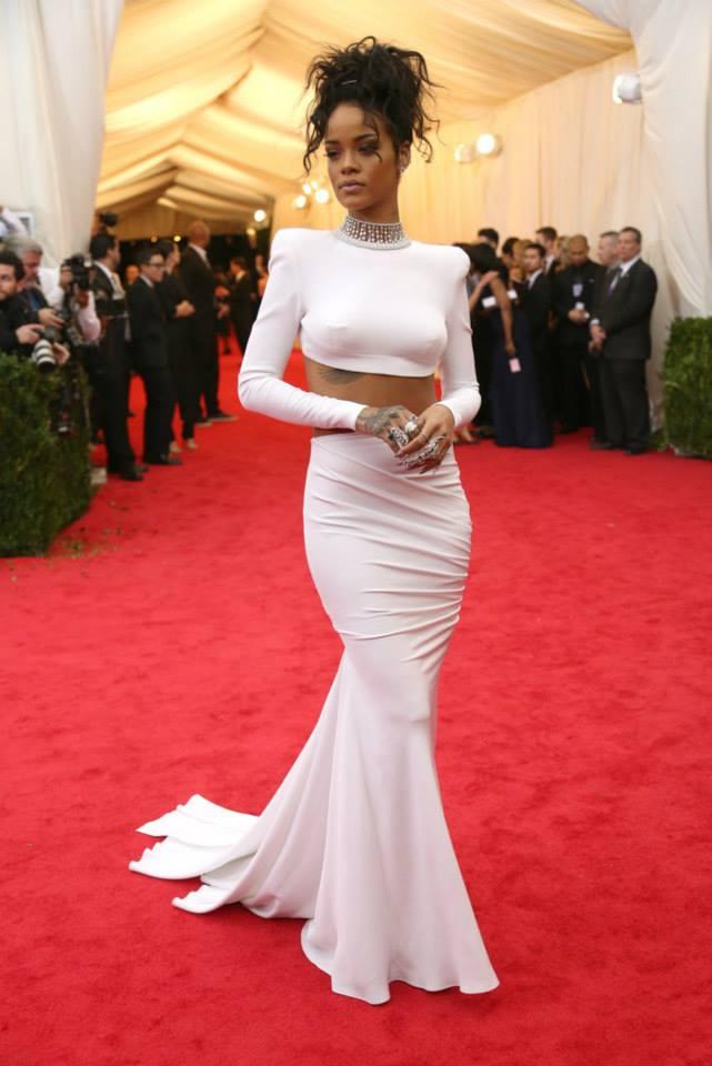 Rihanna in Stella McCartney. at The Met Gala 2014