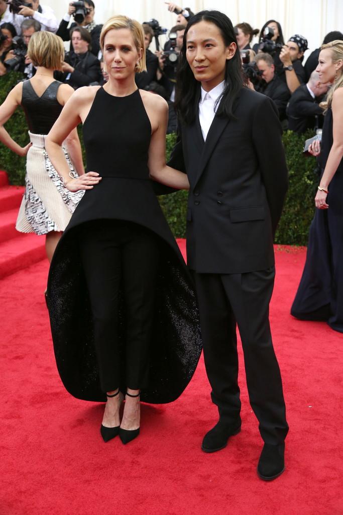 Kristen Wiig in Balenciaga and Alexander Wang.