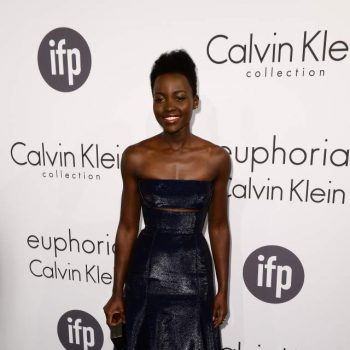 Lupita-Nyongo-Calvin-Klein-Collection-blue-leather-dress-Calvin-Klein-Celebrate-Women-In-Film-2014-Cannes-Film-Festival