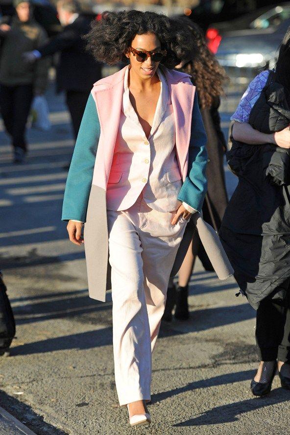 Solange at New York Fashion Week autumn/winter 2014