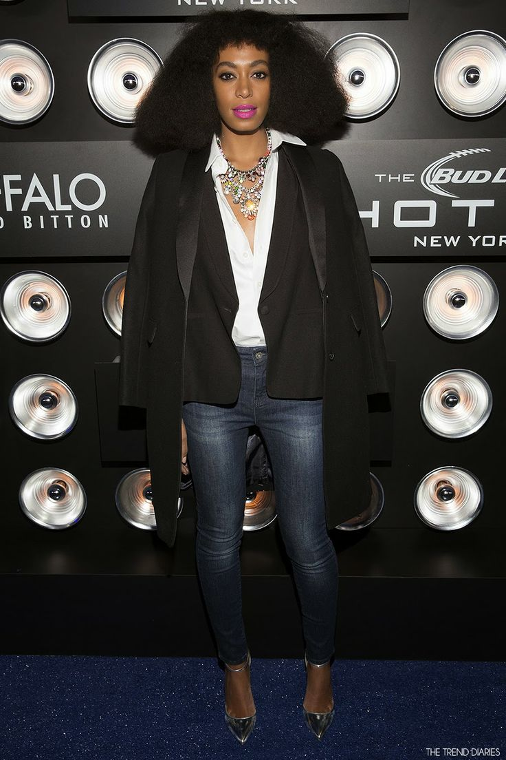 Solange Knowles at the Playboy Party at The Bud Light Hotel Lounge in New York City, New York - February 1, 2014