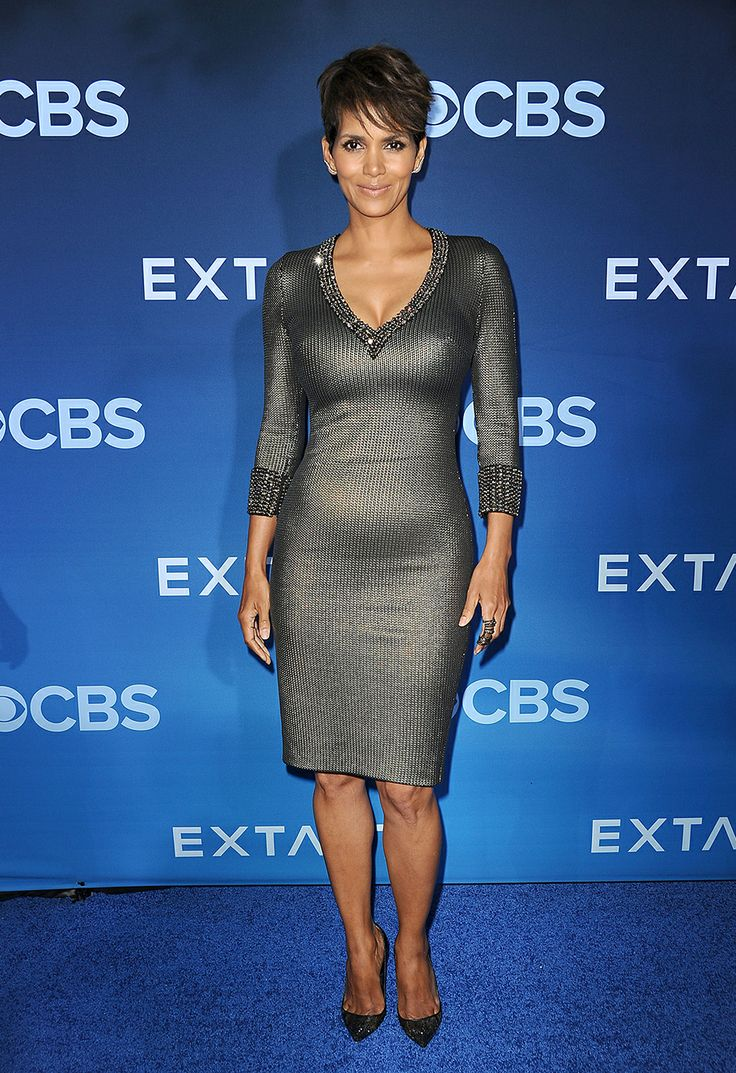 Halle Berry in Jenny Packham at the premiere of Extant in Los Angeles