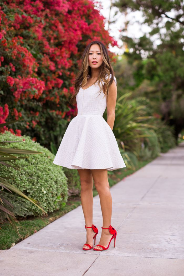 Galerry flared high low dress