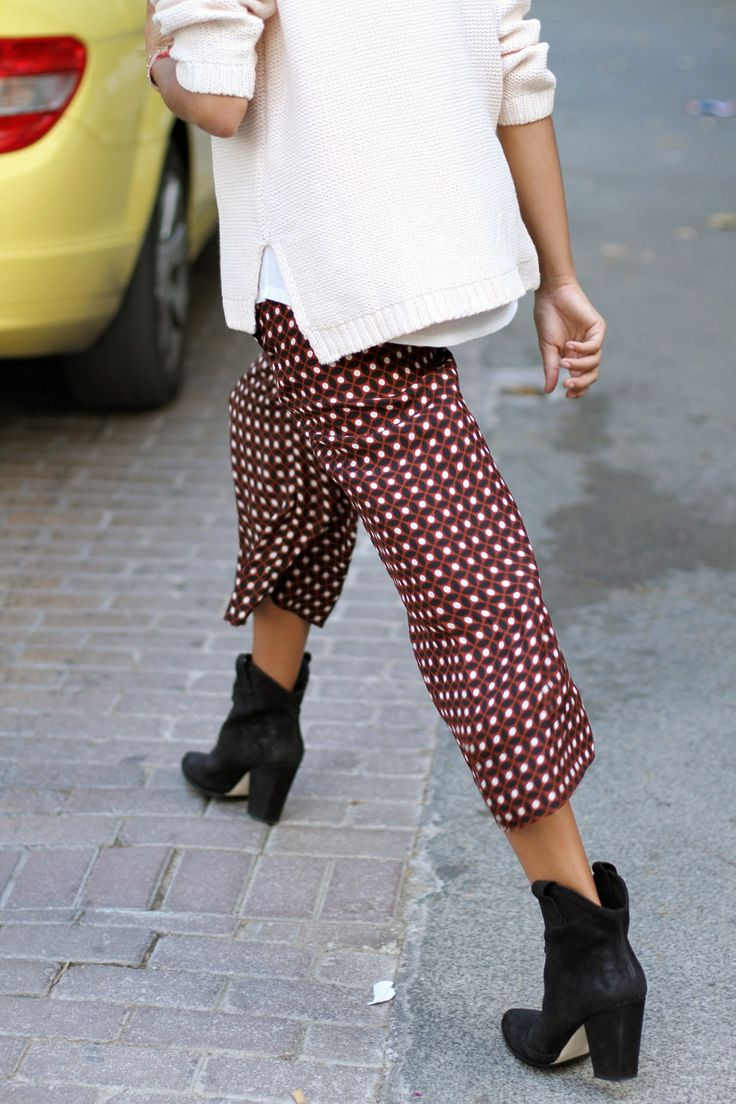 Printed pants and boots