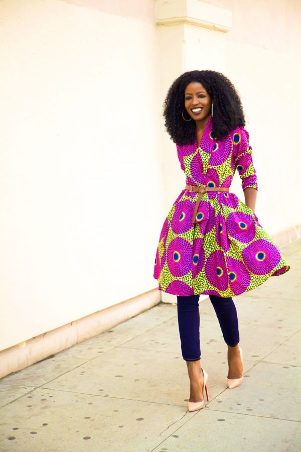 Folake x The Gugu Wrap Coat Dress from DemestiksNewYork Photo by Style Pantry