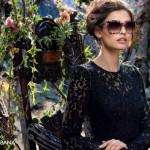 Bianca Balti  in Dolce & Gabbana's Fall/Winter 2014 Eyewear Campaign