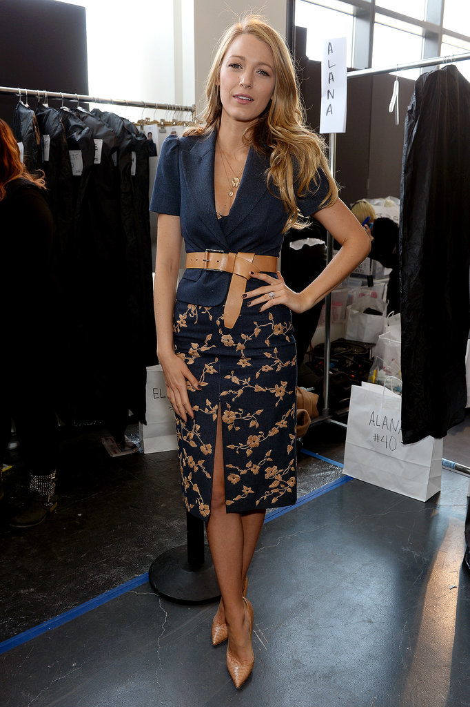 Blake Lively at Michael Kors Fall 2014 Runway Show