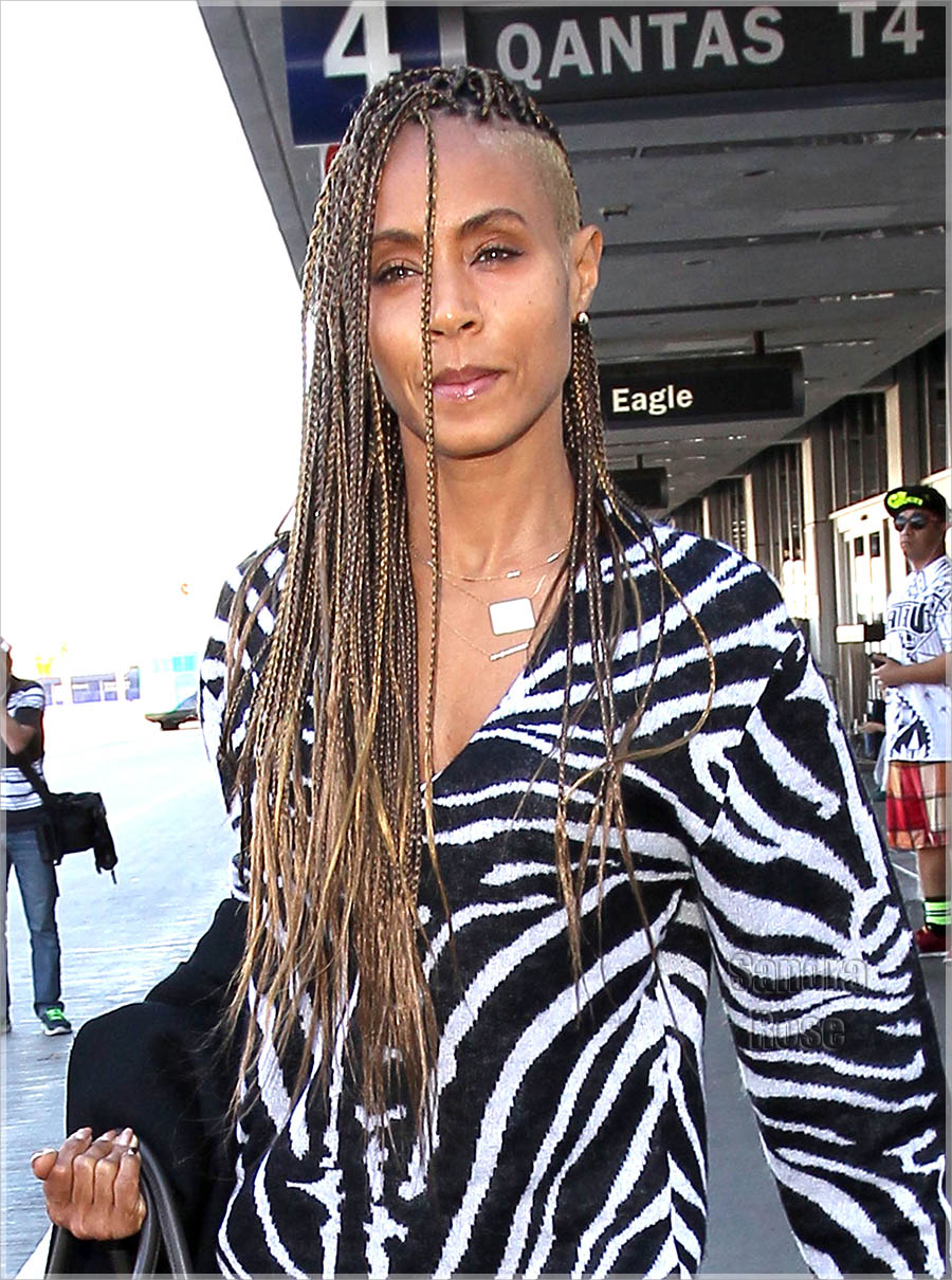 Jada Pinkett braids Celebrities rocking  braids