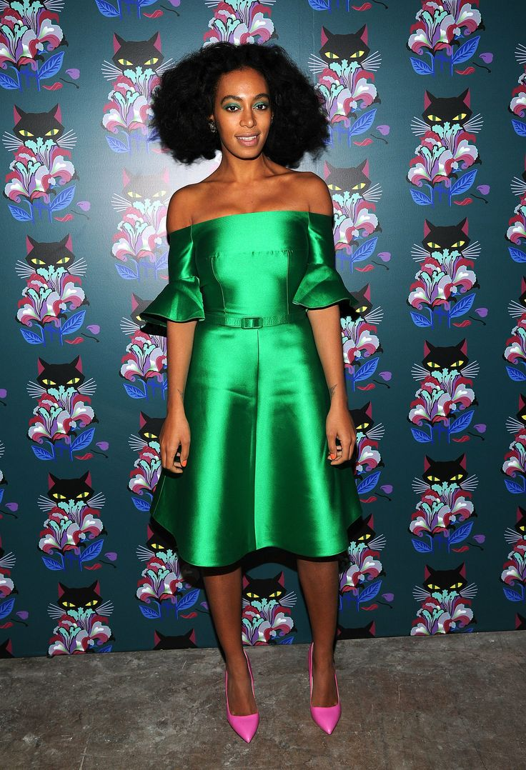 Solange Knowles - Miu Miu Women's Tales 7th Edition Spark & Light Screening in NYC 11 February 2014 in Carven Dress