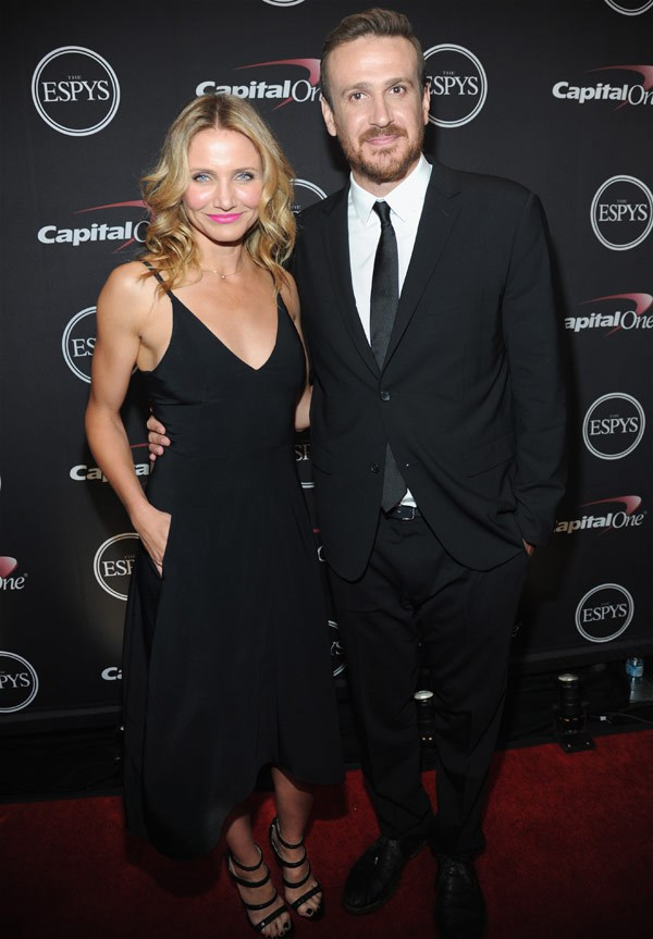 Cameron Diaz and Jason Segel attend The 2014 ESPY Awards at Nokia Theatre L.A. Live on July 16, 2014 in Los Angeles, California. (Photo by Kevin Mazur/WireImage)