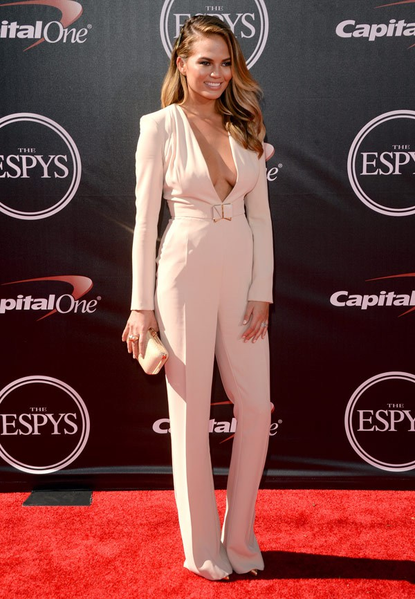 Model Christine Teigen attends The 2014 ESPYS at Nokia Theatre L.A. Live on July 16, 2014 in Los Angeles, California. (Photo by Jason Merritt/Entertainment/Getty Images)