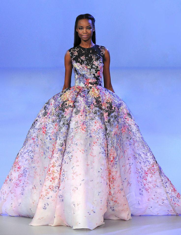 Maria Borges at Elie Saab Haute Couture Spring/Summer 2014