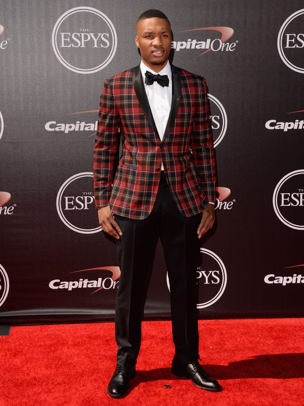 Professional basketball player Damian Lillard attends The 2014 ESPYS at Nokia Theatre L.A. Live on July 16, 2014 in Los Angeles, California. (Photo by Jason Merritt/Entertainment/Getty Images)