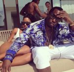 Diddy Wears Versace Scarf Camo Print Shirt