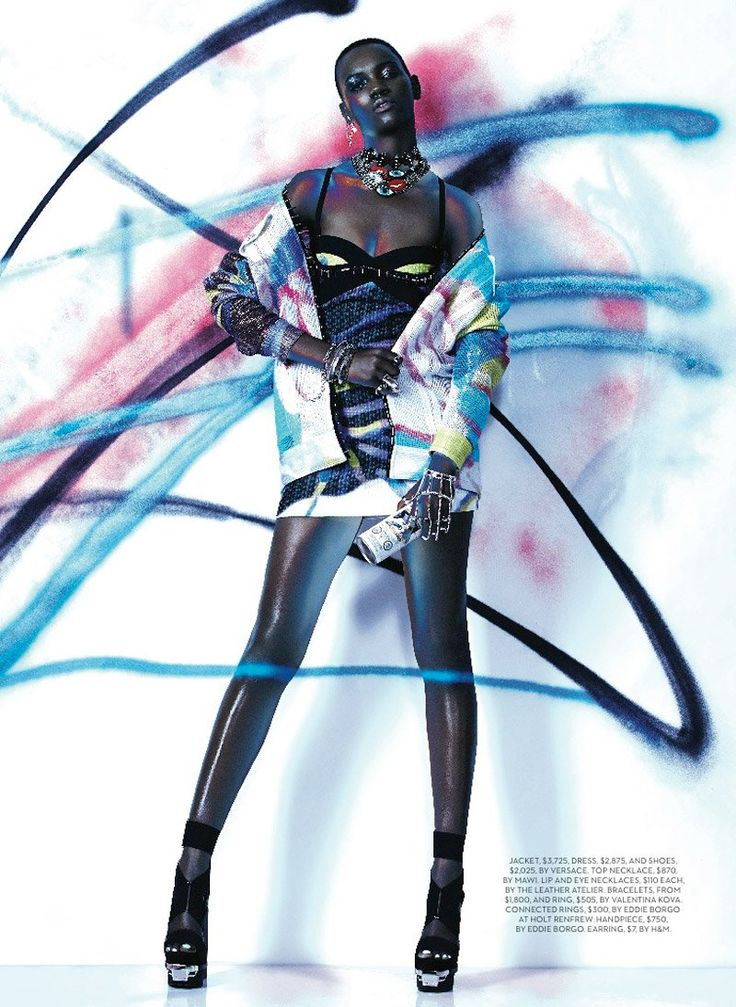 """Express Yourself: Herieth Paul Wears Bold Prints for Fashion Shoot in """"Fashion Magazine"""" April 2014"""