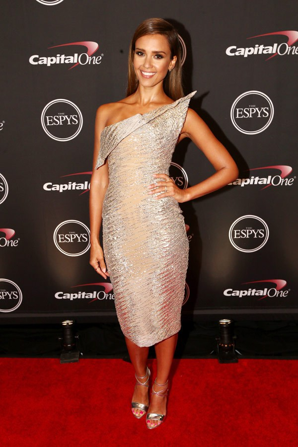 Jessica Alba attends The 2014 ESPY Awards at Nokia Theatre L.A. Live on July 16, 2014 in Los Angeles, California. (Photo by Christopher Polk/Entertainment/Getty Images For ESPYS)