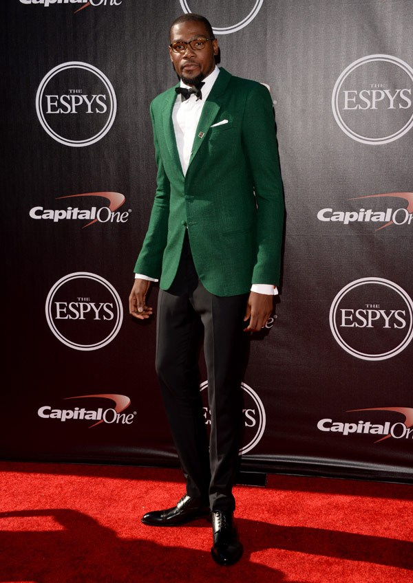 NBA player Kevin Durant attends The 2014 ESPYS at Nokia Theatre L.A. Live on July 16, 2014 in Los Angeles, California. (Photo by Jason Merritt/Entertainment/Getty Images)