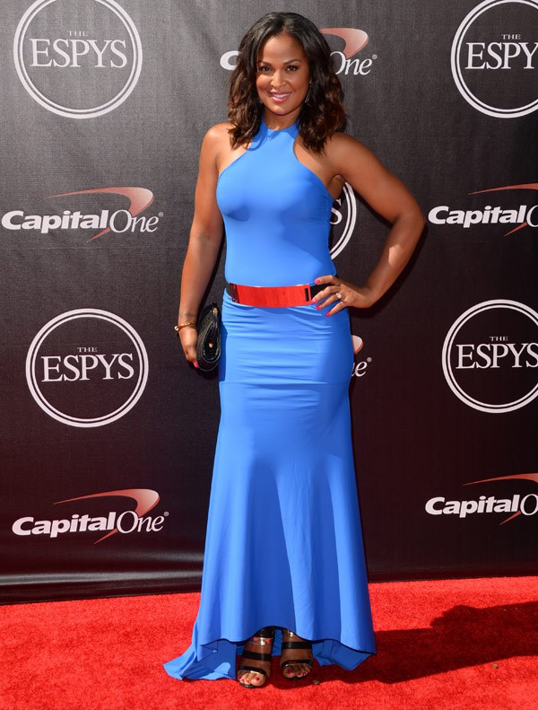 Female boxer Laila Ali attends The 2014 ESPYS at Nokia Theatre L.A. Live on July 16, 2014 in Los Angeles, California. (Photo by Jason Merritt/Entertainment/Getty Images)