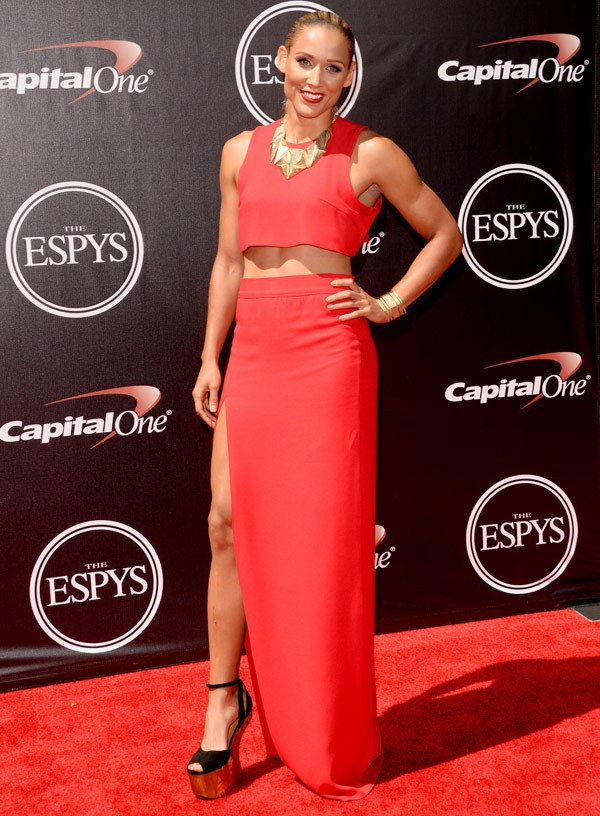 Soccer player Lolo Jones attends The 2014 ESPYS at Nokia Theatre L.A. Live on July 16, 2014 in Los Angeles, California. (Photo by Jason Merritt/Entertainment/Getty Images)