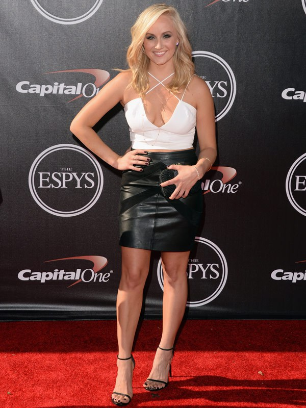 Gymnast Nastia Liukin attends The 2014 ESPYS at Nokia Theatre L.A. Live on July 16, 2014 in Los Angeles, California. (Photo by Jason Merritt/Entertainment/Getty Images)