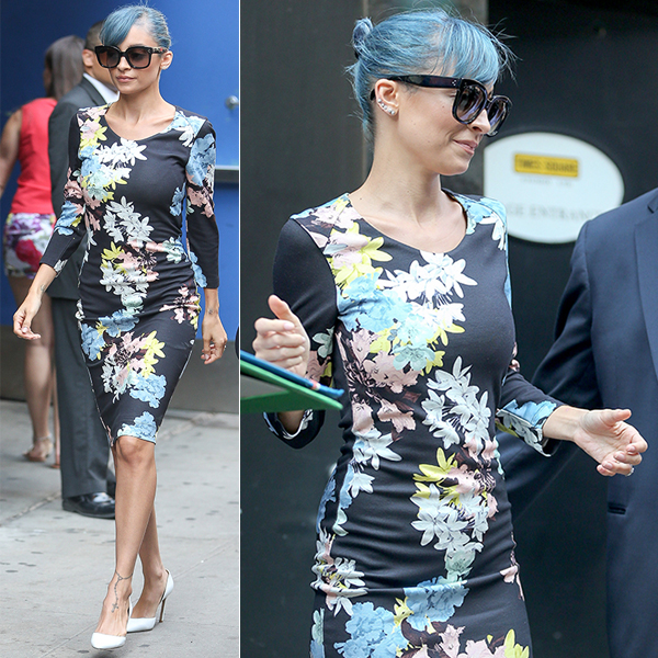 Nicole Richie rocking Blue hair Photo by :SINY/AKM-GSI