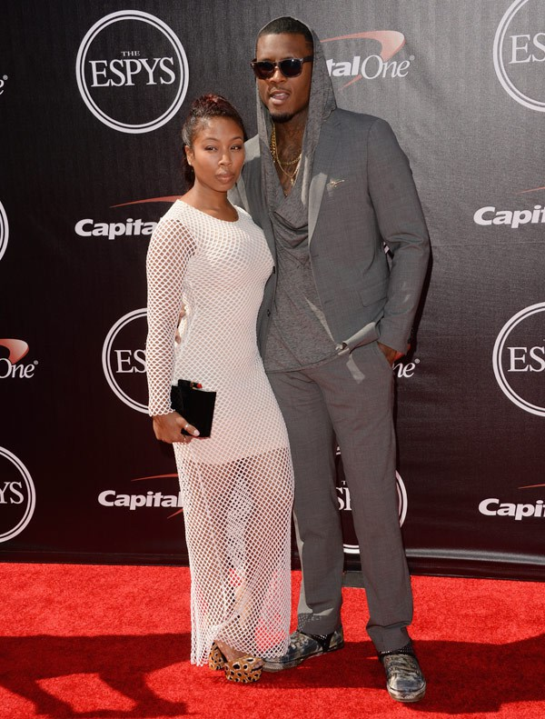 NFL player Steve Johnson (R) attends The 2014 ESPYS at Nokia Theatre L.A. Live on July 16, 2014 in Los Angeles, California. (Photo by Jason Merritt/Entertainment/Getty Images)