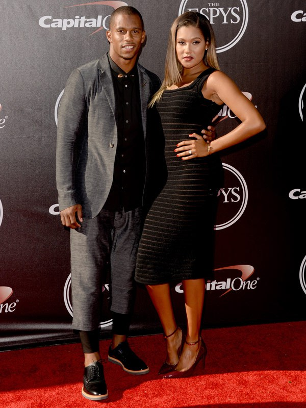 NFL player Victor Cruz attends The 2014 ESPYS at Nokia Theatre L.A. Live on July 16, 2014 in Los Angeles, California. (Photo by Jason Merritt/Entertainment/Getty Images)