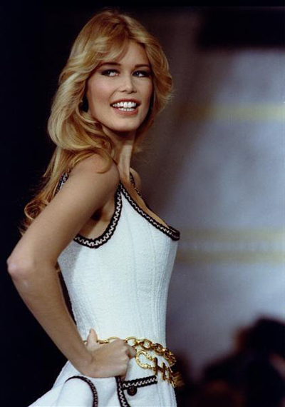 Claudia Schiffer wearing Chanel in 1992.