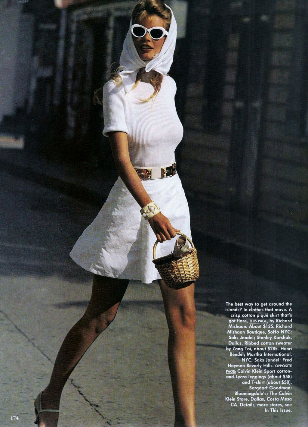 US Vogue January 1992 Claudia Schiffer by Marc Hispard and Carlyne Cerf de Dudzeele
