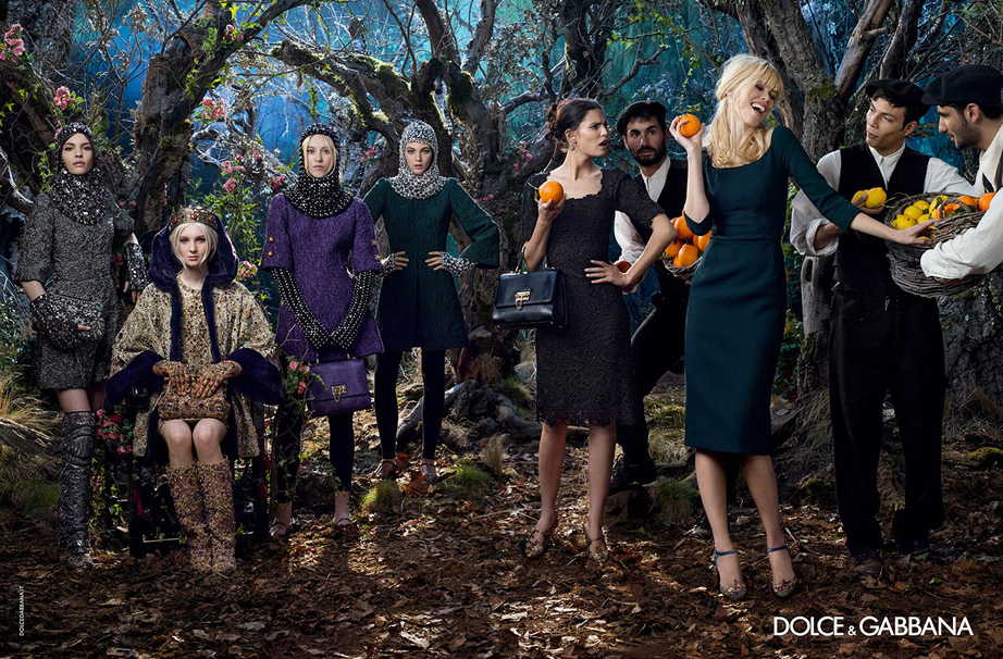 Claudia Schiffer in A/W 2014 campaign for Dolce and Gabbana.