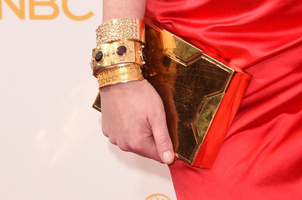Lee Savage clutch and Neil Lane Jewellery