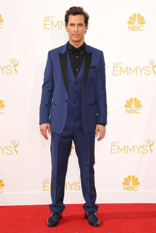239db030 2cbf 11e4 80cc ab228d134167 Matthew McConaughey 2014 Primetime Emmy Awards Mathew McConaughey In Dolce & Gabbana at The 2014 Emmy Awards