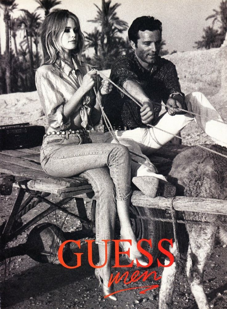 claudia schiffer vintage Claudia Schiffer in 1989 Guess Ads