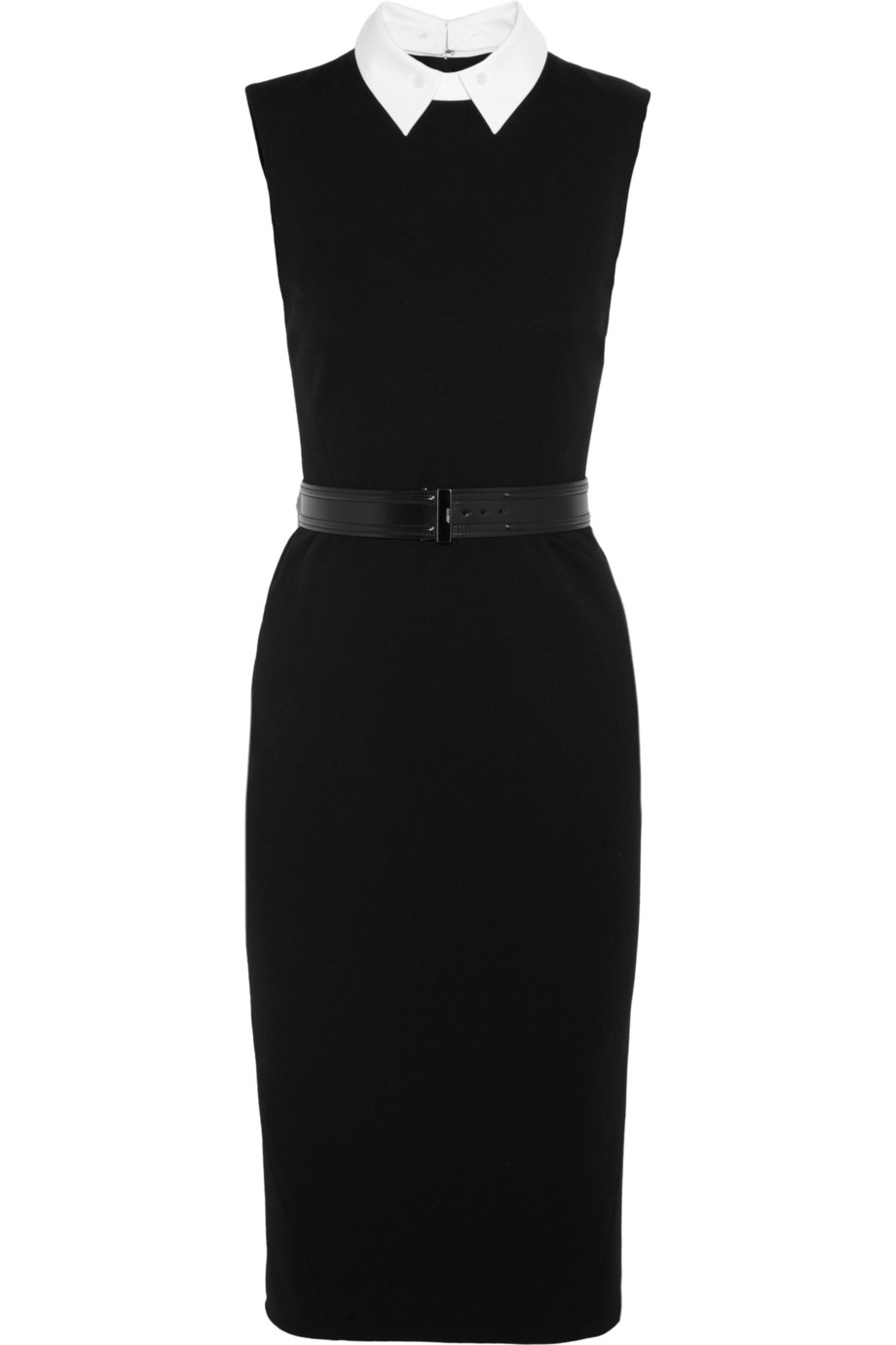 Jason Wu Contrasting Collar Belted Ponte Dress