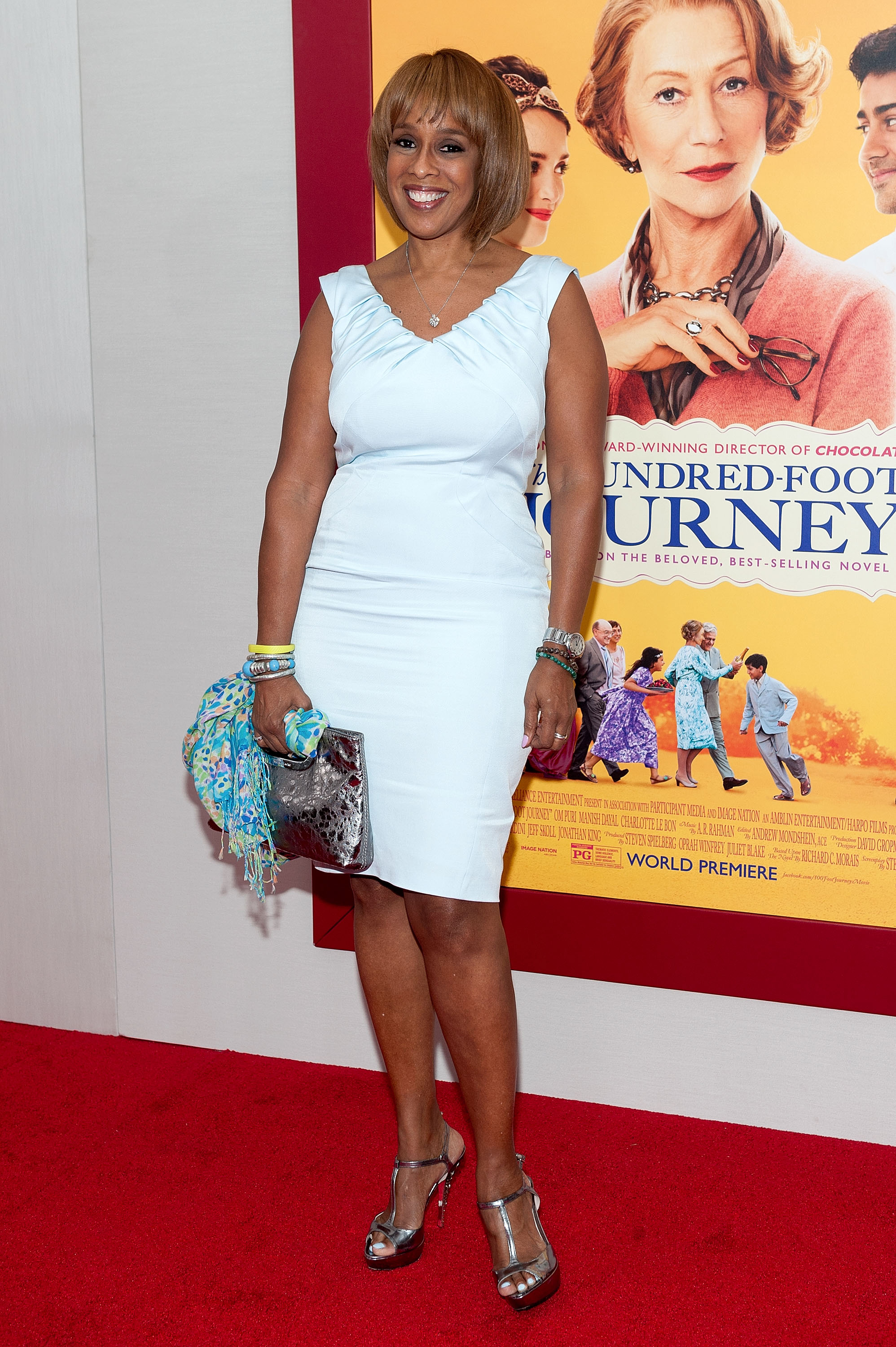 "Gayle King attends ""The Hundred-Foot Journey"" New York premiere at the Ziegfeld Theater on August 4, 2014 in New York City."