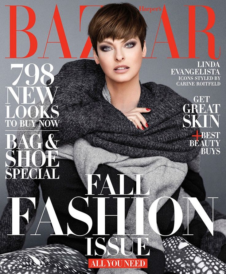 Supermodel Linda Evangelista on BAZAAR's September 2014 cover