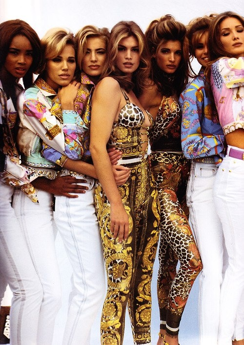 Supermodels In Versace