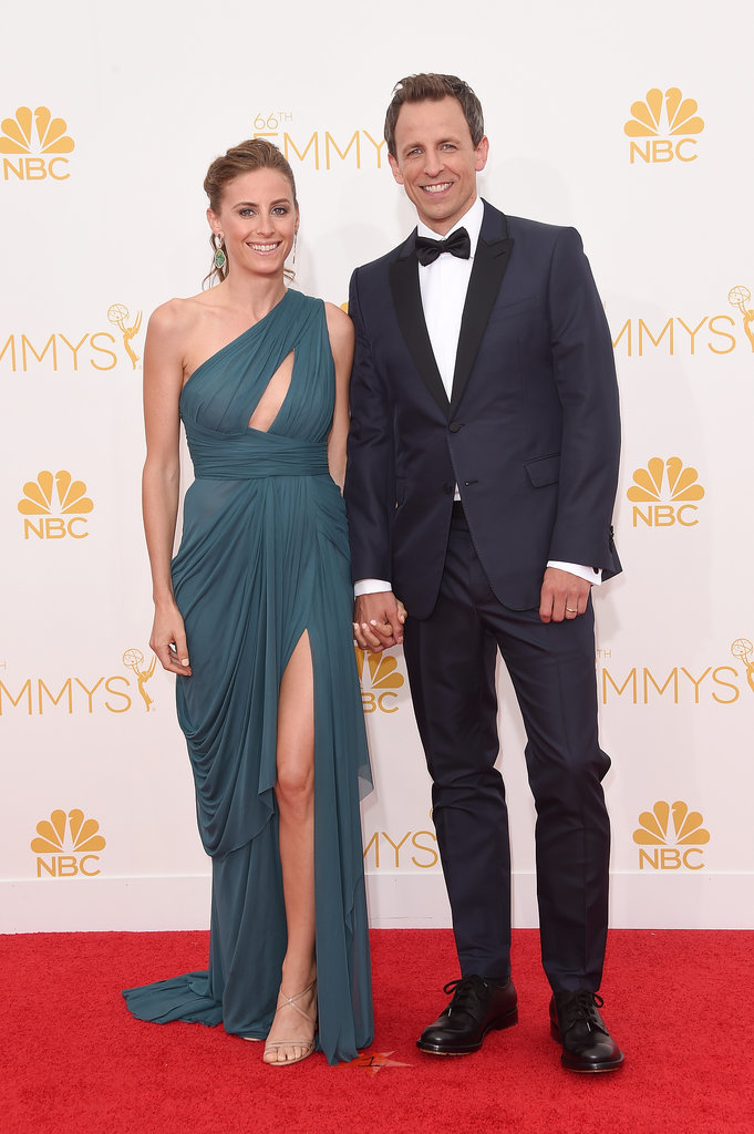 Alexi Ashe and Seth Meyers at the 2014 Emmy Awards