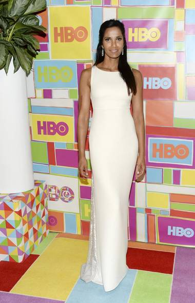 CAEA235 HBO s Post Emmy Awards Reception Padma Lakshmi wears  Ralph Rucci  At The  HBO's Emmy Awards After party